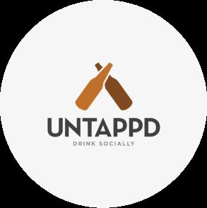 Untappd App logo waarmee een koppeling gemaakt is.