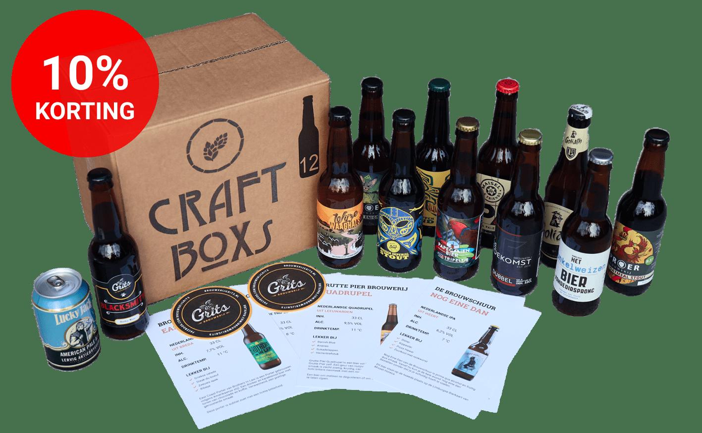 CraftBoxs pakket met 12 unieke speciaalbieren