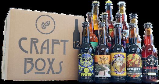 CraftBoxs met 12 unieke speciaalbieren
